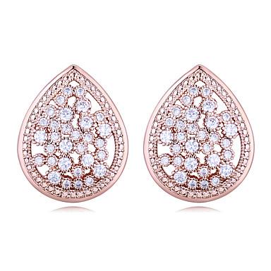 voordelige Dames Sieraden-Wit Zirkonia Klassiek Oorbel - S925 Sterling Zilver Diamant Europees, Modieus, Elegant Goud / Zilver / Lichtbruin Voor Bruiloft Avond Feest Dames / 1 paar