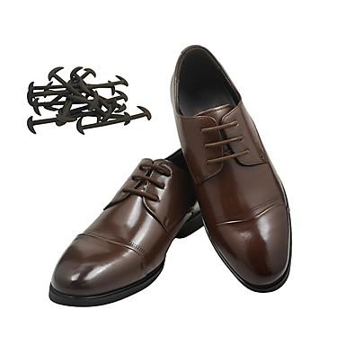 1 Parça Silikon / Paslanmaz Çelik Ayakkabı Bağcıkları Erkek Bahar Günlük Beyaz / Siyah / Kahverengi