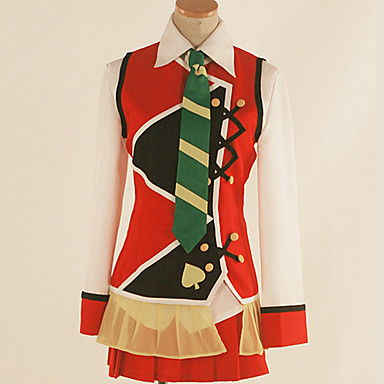 Inspirirana Ljubav uživo Cosplay Anime Cosplay nošnje Japanski Cosplay Suits Color block / Miks boja Shirt / Suknja / Kravata Za Muškarci / Žene