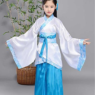 303fe57f2 Dance Costumes Hanfu Girls' Performance Spandex Split Joint Long Sleeve  Skirts / Top / Waist Accessory