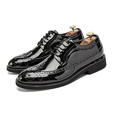 Ανδρικά Παπούτσια άνεσης PU Άνοιξη Βρετανικό Oxfords Αναπνέει Χρυσό / Μαύρο / Ασημί