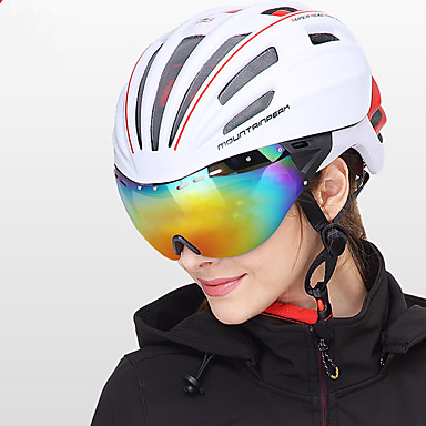 billige Hjelmer-Mountainpeak Voksne sykkelhjelm BMX Hjelm 20 Ventiler Integrert støpt Lettvekt Insektnett ESP+PC sport Skøyting Sykling / Sykkel Sykkel - Rød Grønn Blå Herre Dame Unisex