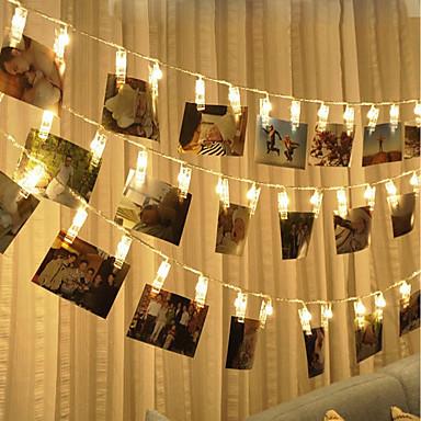 brelong vodio foto klip svjetlo 1.5m 10led toplo bijelo svjetlo uvijek svijetle sa flash