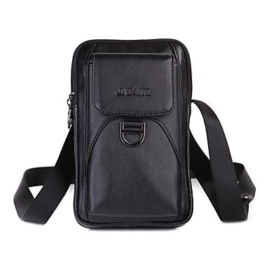 abordables Sacs-Homme Fermeture Mobile Bag Phone Couleur unie Noir / Marron / Automne hiver