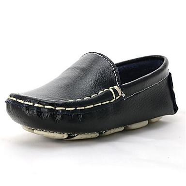voordelige Babyschoenentjes-Jongens Comfortabel / Eerste schoentjes Leer Loafers & Slip-Ons Peuter (9m-4ys) / Little Kids (4-7ys) Zwart / Oranje / Blauw Lente & Herfst