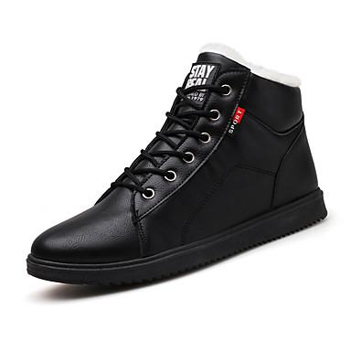 Herrn Fashion Boots PU Winter Freizeit Stiefel warm halten Booties / Stiefeletten Schwarz / Grau / Gelb
