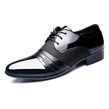 Bărbați Pantofi formali PU Toamnă / Toamna iarna Oxfords Respirabil Negru / Maro / Vișiniu