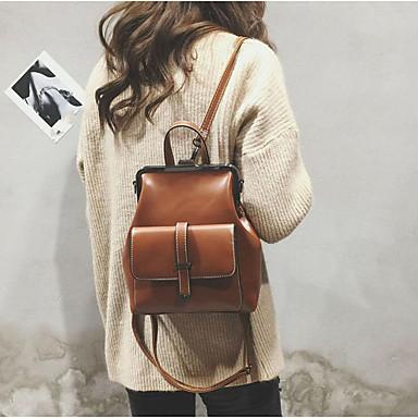 povoljno Ruksaci-Žene Patent-zatvarač ruksak ruksak PU Braon / Crn / Lila-roza
