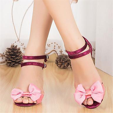 Žene Plesne cipele Brušena koža Cipele za latino plesove Cvijet Štikle Tanka visoka peta Moguće personalizirati Pink / Seksi blagdanski kostimi / Koža