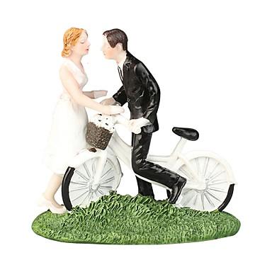 Figure za torte Plaža Teme / Vrt Tema / Klasični Tema Par Classic ABS smola Vjenčanje / Special Occasion s Jedna boja 1 pcs Poklon kutija