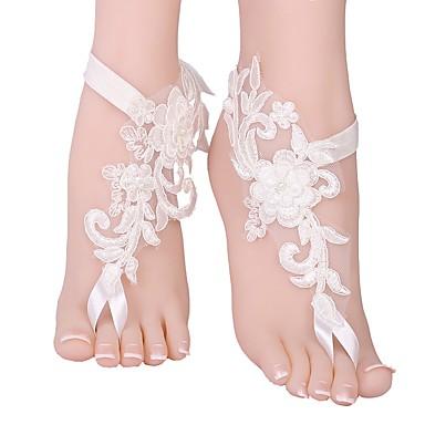 abordables Accessoires pour Chaussures-2pcs Polyester Ornement Femme Eté Mariage / Quotidien Blanc