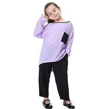 baratos Calças para Meninos-Infantil Para Meninas Activo Básico Moda de Rua Diário Esportes Sólido Calças Azul Marinha