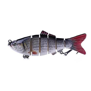 1 pcs Csali Tvrdi Mamac Jednostavna instalacija Svjetlo i praktično Sinking Bass Pastrva Štuka Morski ribolov Vrtložno Slatkovodno ribarstvo Plastika Krom / Šaran ribolov / Bas ribolov