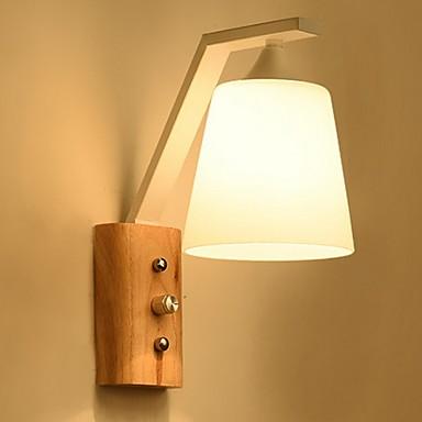 Cool Suvremena suvremena Zidne svjetiljke Spavaća soba Wood / Bamboo zidna svjetiljka 220-240V 40 W