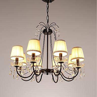 JLYLITE 8-Light Cirkularno / Svijeća stilu Lusteri Uplight Electroplated Metal svijeća Style 110-120V / 220-240V