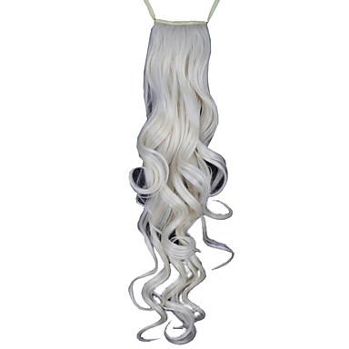 povoljno Perike i ekstenzije-Konjski repići Kose za kosu Kovrčav Klasika Sintentička kosa 24 inča Ugradnja umetaka Dnevno