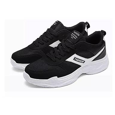 Ανδρικά Παπούτσια άνεσης PU Άνοιξη Καθημερινό Αθλητικά Παπούτσια Περπάτημα Αναπνέει Μαύρο / Μαύρο και Άσπρο / Μαύρο / Κόκκινο