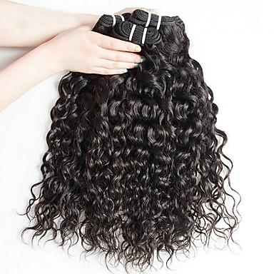 4 paketića Mongolska kosa Water Wave Ljudska kosa Netretirana  ljudske kose Headpiece Ljudske kose plete Styling kose 8-28 inch Prirodna boja Isprepliće ljudske kose Nježno Najbolja kvaliteta / 8A