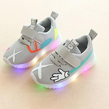 voordelige Babyschoenentjes-Jongens / Meisjes Comfortabel / Oplichtende schoenen Netstof Sneakers Peuter (9m-4ys) / Little Kids (4-7ys) Veters / Haak & Lus / LED Rood / Groen / Roze Lente & Herfst