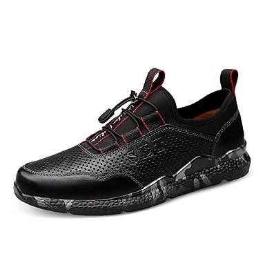 Ανδρικά Παπούτσια άνεσης Δέρμα / Νάπα Leather Χειμώνας Βίντατζ / Καθημερινό Αθλητικά Παπούτσια Απορροφητική Μαύρο / Σκούρο καφέ