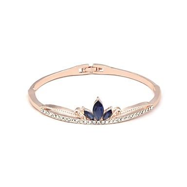 baratos Bangle-Mulheres Bracelete Clássico Estiloso Liga Pulseira de jóias Branco / Roxo / Azul Claro Para Festa Cerimônia Mascarilha