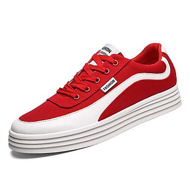Abile Per Uomo Scarpe Comfort Di Corda Primavera Casual Sneakers Traspirante Nero - Grigio - Rosso #07115637