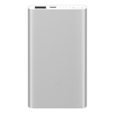 billige Eksterne batterier-Xiaomi 5000 mAh Til Power Bank Eksternt batteri 5.1 V Til 2.1 A Til Batterilader med kabel
