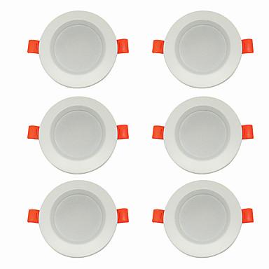 6pcs 5 W 360 lm 10 Perline LED Facile da installare A incasso LED a incasso Bianco caldo Luce fredda 220-240 V Casa / ufficio Salotto / sala da pranzo