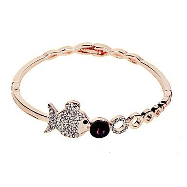 baratos Bangle-Mulheres Claro Bracelete Estilo vintage Estiloso Simples Liga Pulseira de jóias Prata / Ouro Rose Para Feriado Trabalho Festival