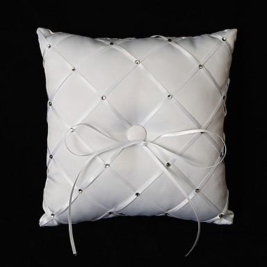 povoljno Vjenčanje-Silk Like Satin Akril Diamond Saten ring pillow Vjenčanje Sva doba