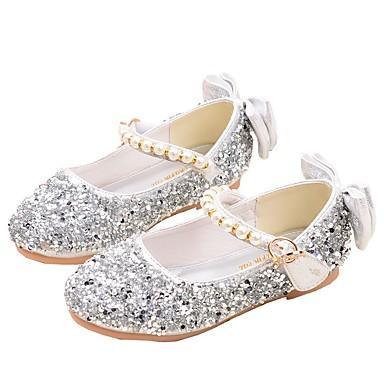 Fille Chaussures Matière synthétique Printemps & Automne Confort / Chaussures de Demoiselle d'Honneur Fille Ballerines pour Adolescent Or / Argent / Rose