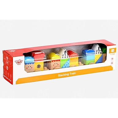 אבני בניין רכבת דגם גיאומטרי עץ ילדים כל צעצועים מתנות 1 pcs