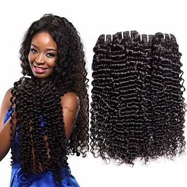 billige Parykker af ægte menneskerhår-3 Bundler Peruviansk hår Dyb Bølge 100% Remy Hair Weave Bundles Bundle Hair Hårforlængelse af menneskehår Vævning 10-26 inch Naturlig Farve Menneskehår Vævninger Vævet Naturlig nyt Menneskehår