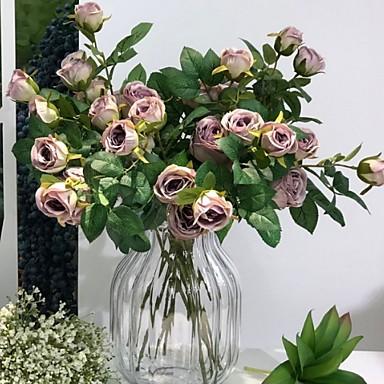 Fleurs artificielles 1 Une succursale Classique Moderne Fleurs éternelles Fleur de Table