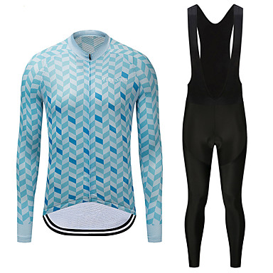 00e3867e6 FirtySnow Men s Long Sleeve Cycling Jersey with Bib Tights - White   Black  Bike Clothing Suit