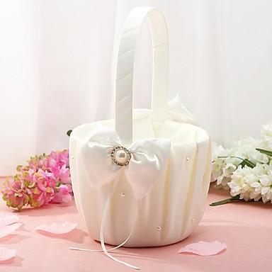 abordables Paniers de Fleurs-Panier de fleurs Autres 22 cm Strass / Imitation Perle / Noeud en satin 1 pcs