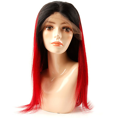 cheap Human Hair Wigs-Remy Human Hair Lace Front Wig style Brazilian Hair Natural Straight Wig 180% Density Soft Best Quality New Arrival Hot Sale Comfortable Women's Medium Length Human Hair Lace Wig Human Hair Extensions