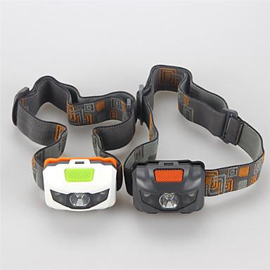 billige Lommelykter & campinglykter-Hodelykter LED Cree® XP-E R3 3 emittere 500 lm 4.0 lys tilstand Taktisk Vanntett Nedslags Resistent Camping / Vandring / Grotte Udforskning Dagligdags Brug Sykling Hvit Svart