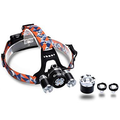 U'King ZQ-G808 Linternas de Cabeza Faro de bicicleta LED LED 3 Emisores 3000 lm 4.0 Modo de Iluminación Zoomable, Enfoque Ajustable, Recargable Camping / Senderismo / Cuevas, Caza, Pesca