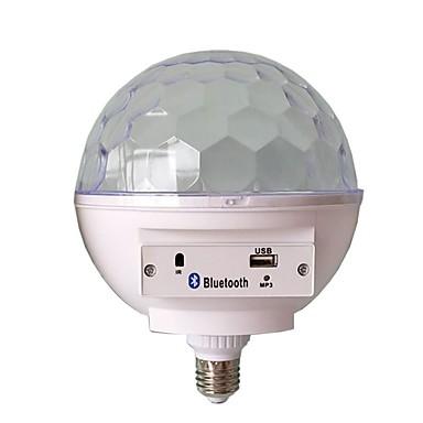 abordables Ampoules électriques-1pc e27 base rgb led lampe avec boîte à sons bluetooth haut-parleur musical boule magique led musique ampoule flash light