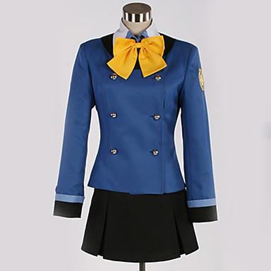Inspirado por Cosplay Cosplay Animé Disfraces de cosplay Uniformes Escolares Británico / Contemporáneo Pañuelo / Top / Falda Para Hombre / Mujer