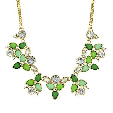 abordables Collier-Colliers Fantaisie Femme Fleur Résine Mode Adorable Vert clair 44.5 cm Colliers Tendance Bijoux 1pc pour Quotidien Forme Géométrique