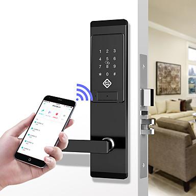 povoljno Zaštita i sigurnost-pineworld q201 pametna brava vrata / cink legura brava / zaporka za zaporku / zaključavanje otiska prsta pametna kuća sigurnost ios / android sustav za otključavanje lozinke / mehanički ključ otključa