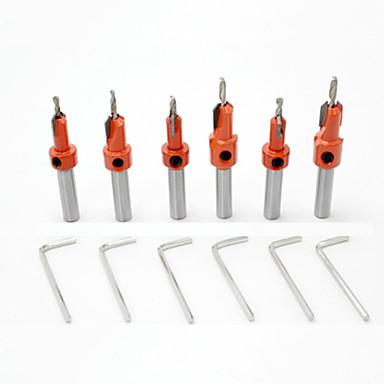 6 pcs Fúróberendezés Kényelmes Könnyű összeszerelés Hatszögfej Factory OEM 6PC Alkalmas elektromos fúrókhoz Alkalmas más elektromos szerszámokhoz