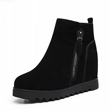 povoljno Ženske čizme-Žene PU Zima minimalizam Čizme Skrivena peta Čizme gležnjače / do gležnja Crn / Crvena