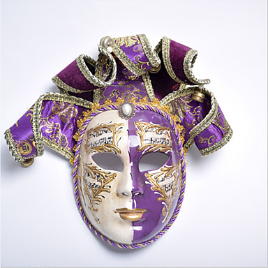 Venetian Mask Vintage Purpur   Röd Tyg Party Cosplay-tillbehör Halloween    Karnival   Maskerad d4b04271008f6