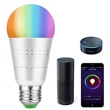 billige Elpærer-smart led pære wifi smart bulbsrgb hvit dimbar farget smarttelefon kontrollert dagslys hvitt natt lys ingen hub kreves fungerer med amazon echo alexa google home