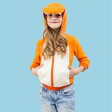 3413defca8 Kid's Hoodie Kigurumi Pajamas Dinosaur Onesie Pajamas Polar Fleece Orange  Cosplay For Boys and Girls Animal Sleepwear Cartoon Festival / Holiday  Costumes # ...