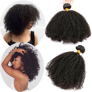 baratos Extensões de Cabelo Natural-1 pacote Cabelo Brasileiro Afro Kinky Cabelo Natural Remy Extensões de Cabelo Natural 10-28 polegada Tramas de cabelo humano Macio Melhor qualidade Nova chegada Extensões de cabelo humano Mulheres