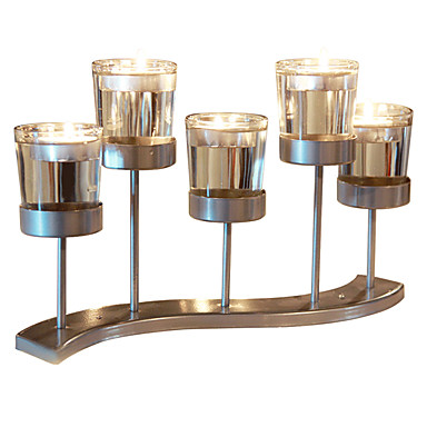 Modern Contemporary Simple Style Glasses Glass Iron Candle Holders Novelty Birthday